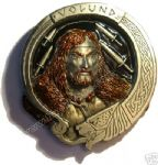 Volund - Supreme Norse Smith Belt Buckle + display stand. Code DL5